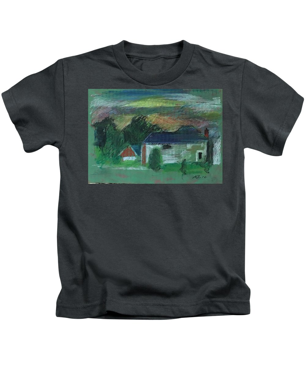 Kids T-Shirt featuring the pastel House During Sunset by Alejandro Lopez-Tasso
