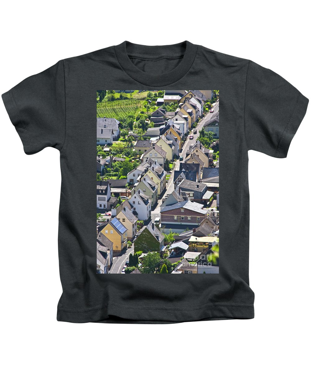 Europe Kids T-Shirt featuring the photograph Houses On-line by Heiko Koehrer-Wagner