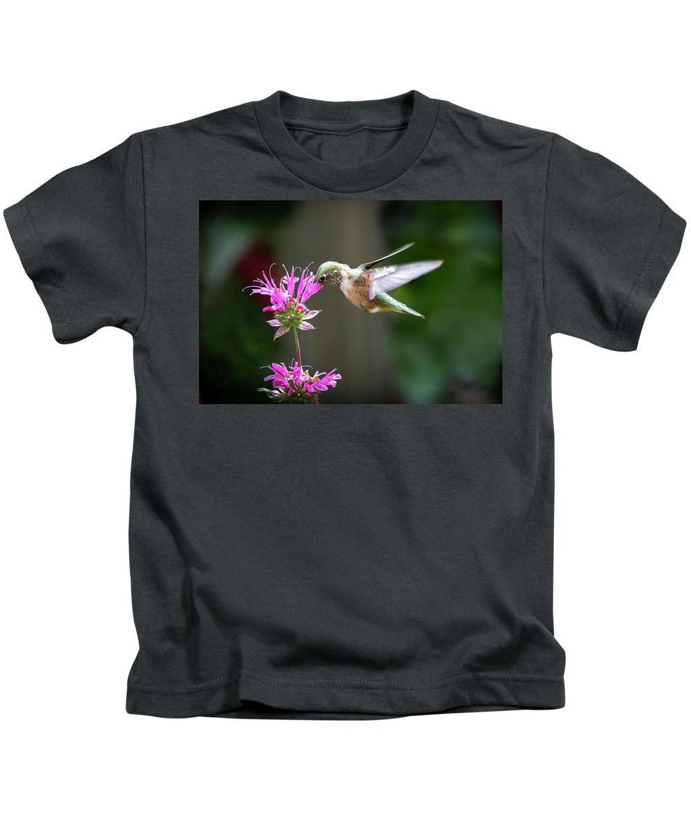 Hummingbird Kids T-Shirt featuring the photograph Hummingbird Beauty by Judi Dressler