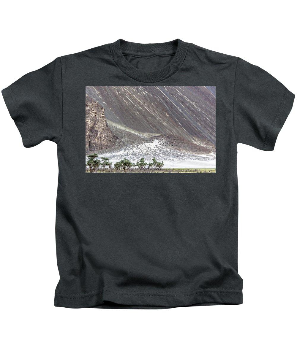 Hunder Kids T-Shirt featuring the photograph Hunder Desert, Hunder, 2005 by Hitendra SINKAR