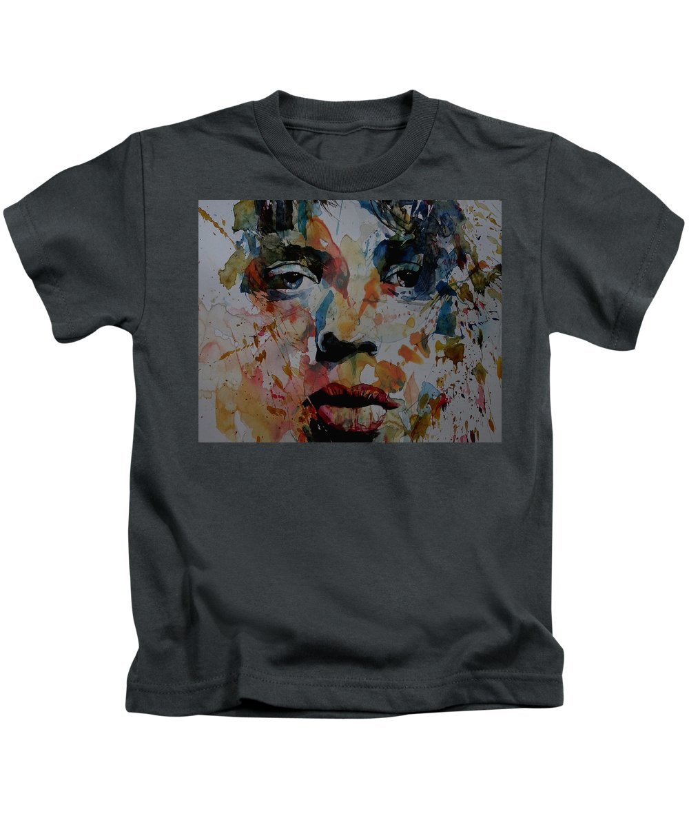 Mick Jagger Kids T-Shirt featuring the painting I Know It's Only Rock N Roll But I Like It by Paul Lovering