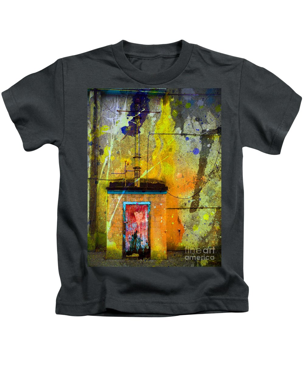 Door Kids T-Shirt featuring the photograph I Wear My Heart On The The Door by Tara Turner