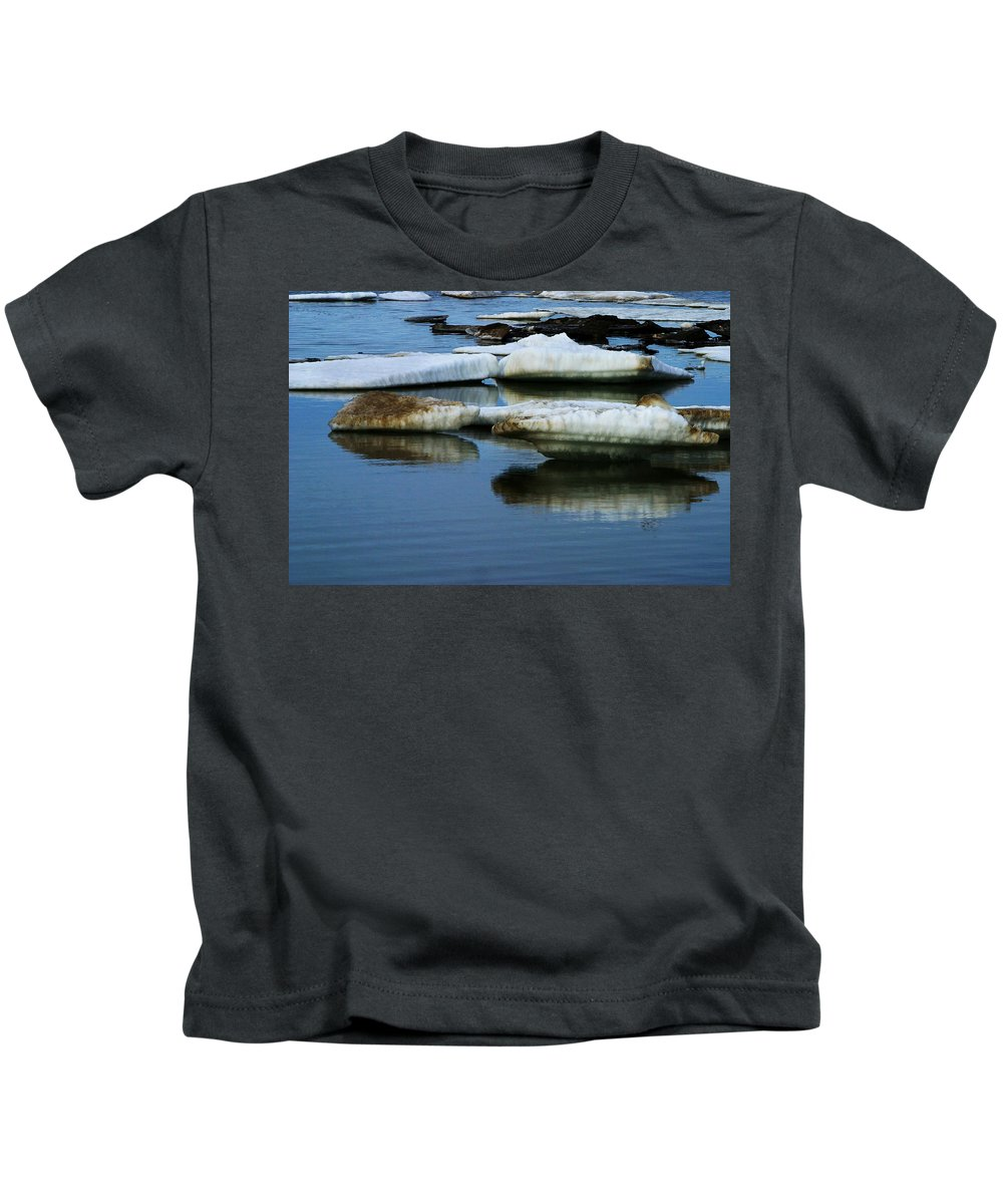 Ice Kids T-Shirt featuring the photograph Ice In The Arctic by Anthony Jones