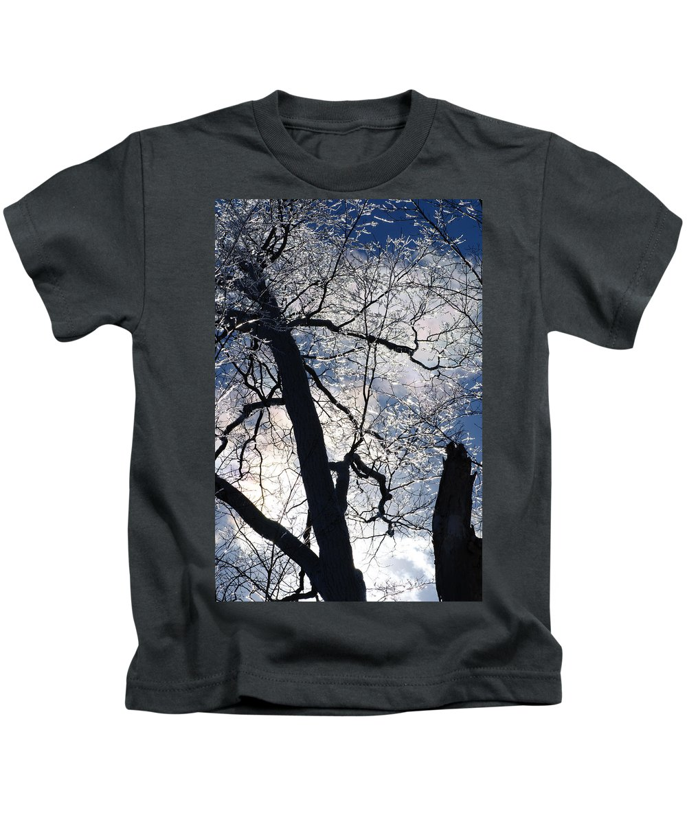 Ice Kids T-Shirt featuring the photograph Ice Storm by David Jenniskens