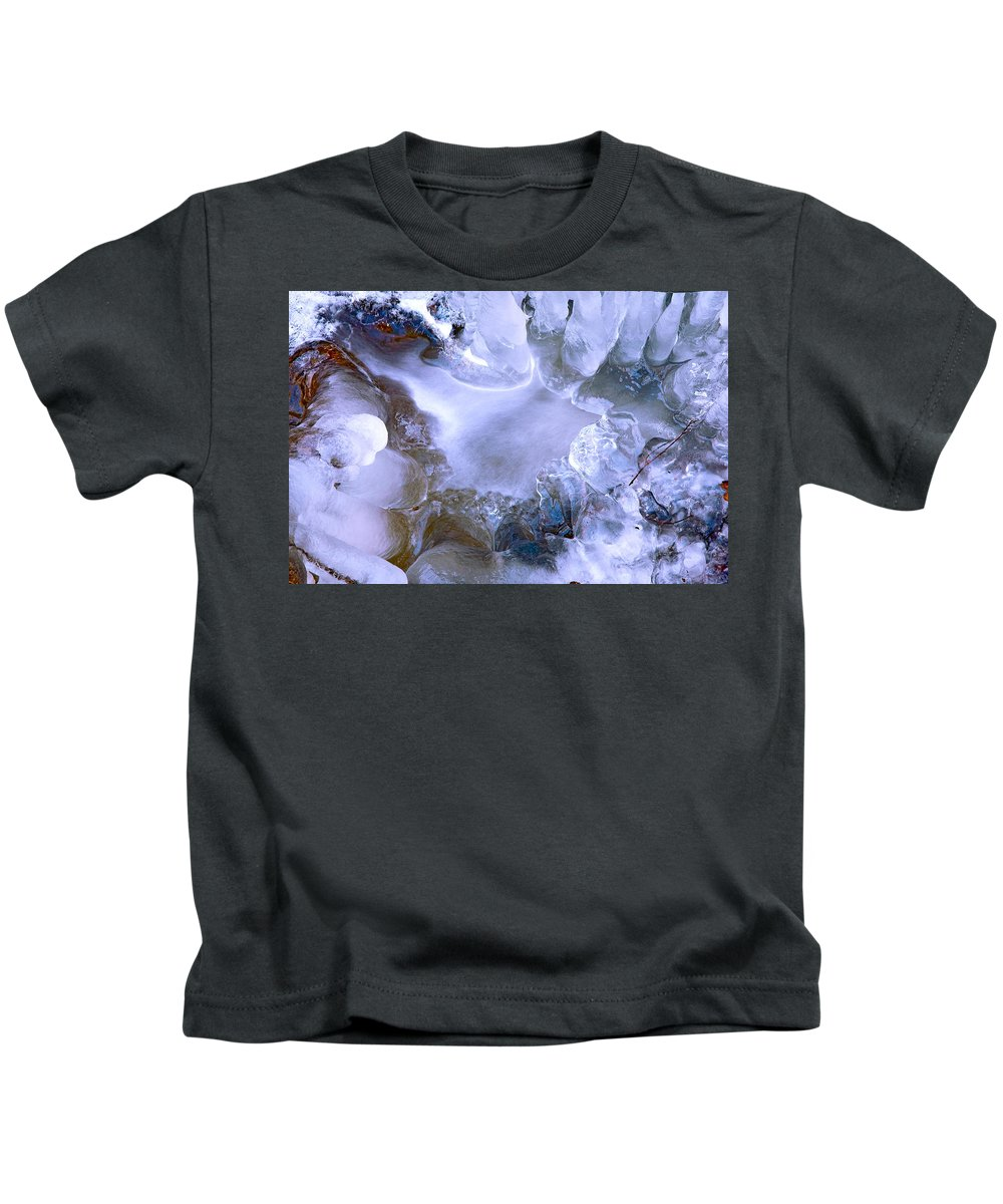 France Kids T-Shirt featuring the photograph Ice Throne by Jean-luc Bohin
