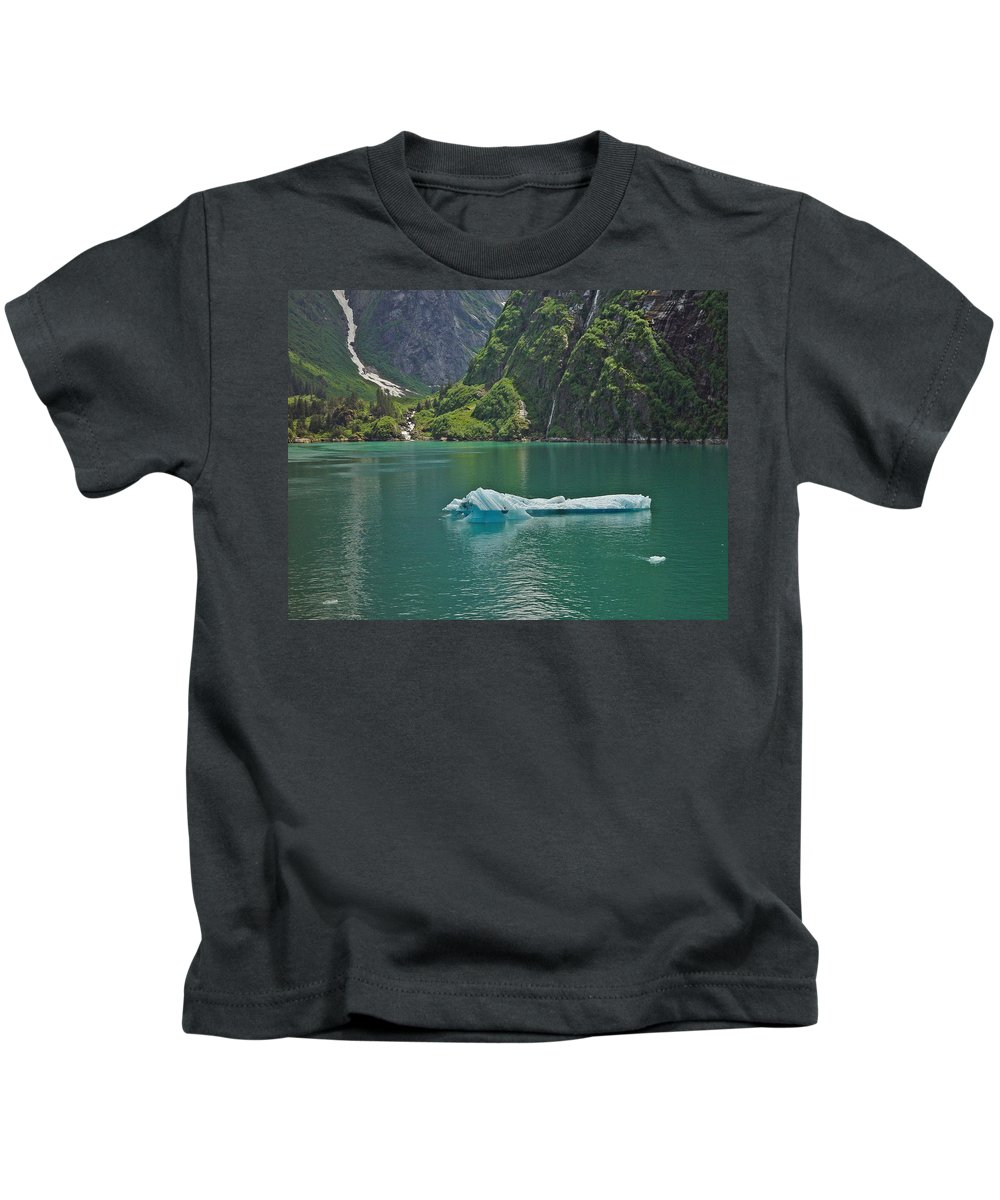 Iceburg Kids T-Shirt featuring the photograph Ice Tracy Arm Alaska by Heather Coen
