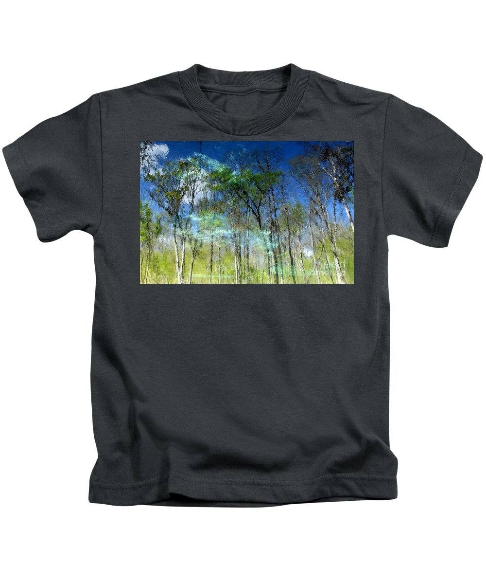 River Kids T-Shirt featuring the photograph Ichetucknee Reflections by David Lee Thompson