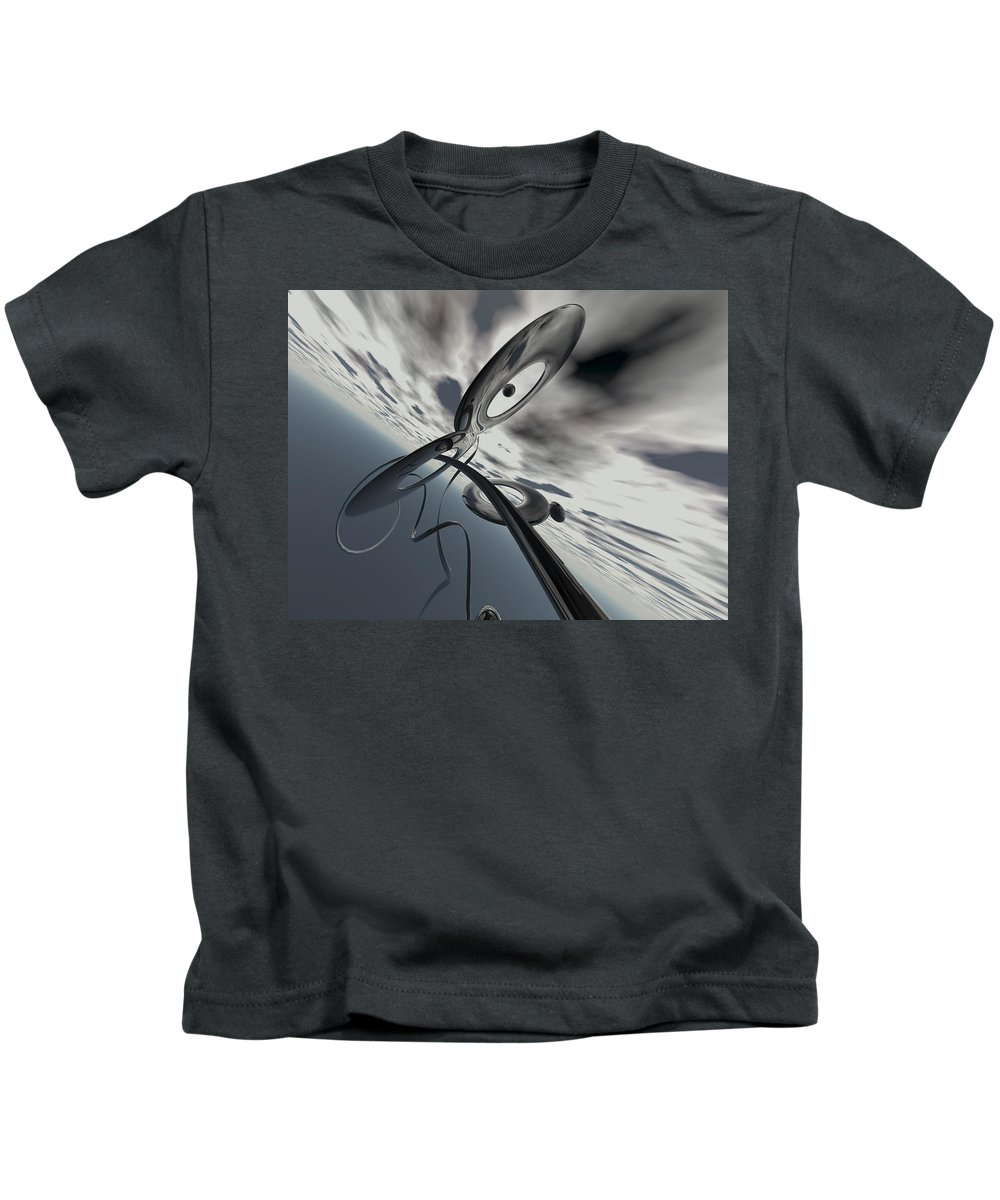 Scott Piers Kids T-Shirt featuring the painting Id2a by Scott Piers