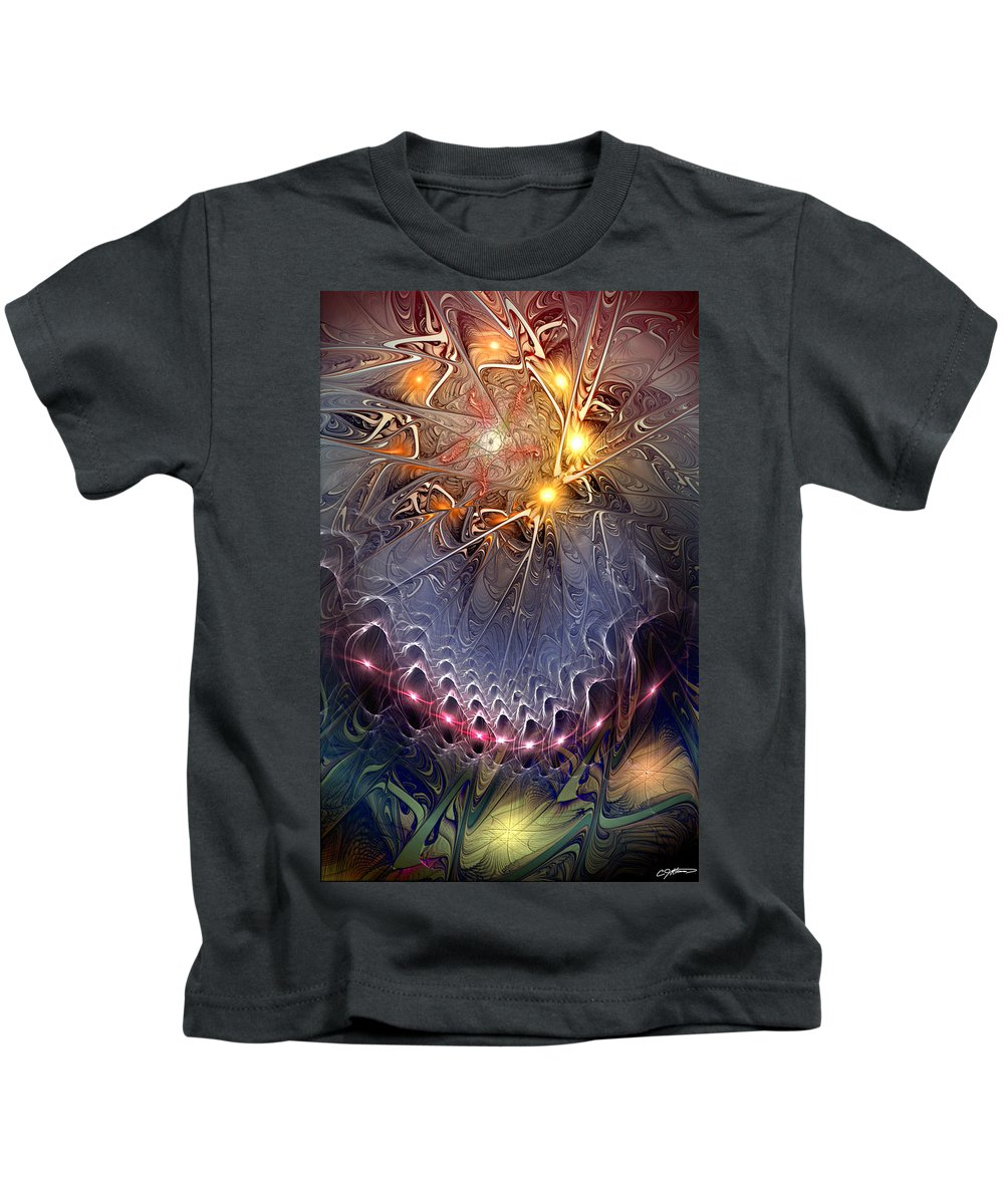 Abstract Kids T-Shirt featuring the digital art Ideological Subterfuge by Casey Kotas