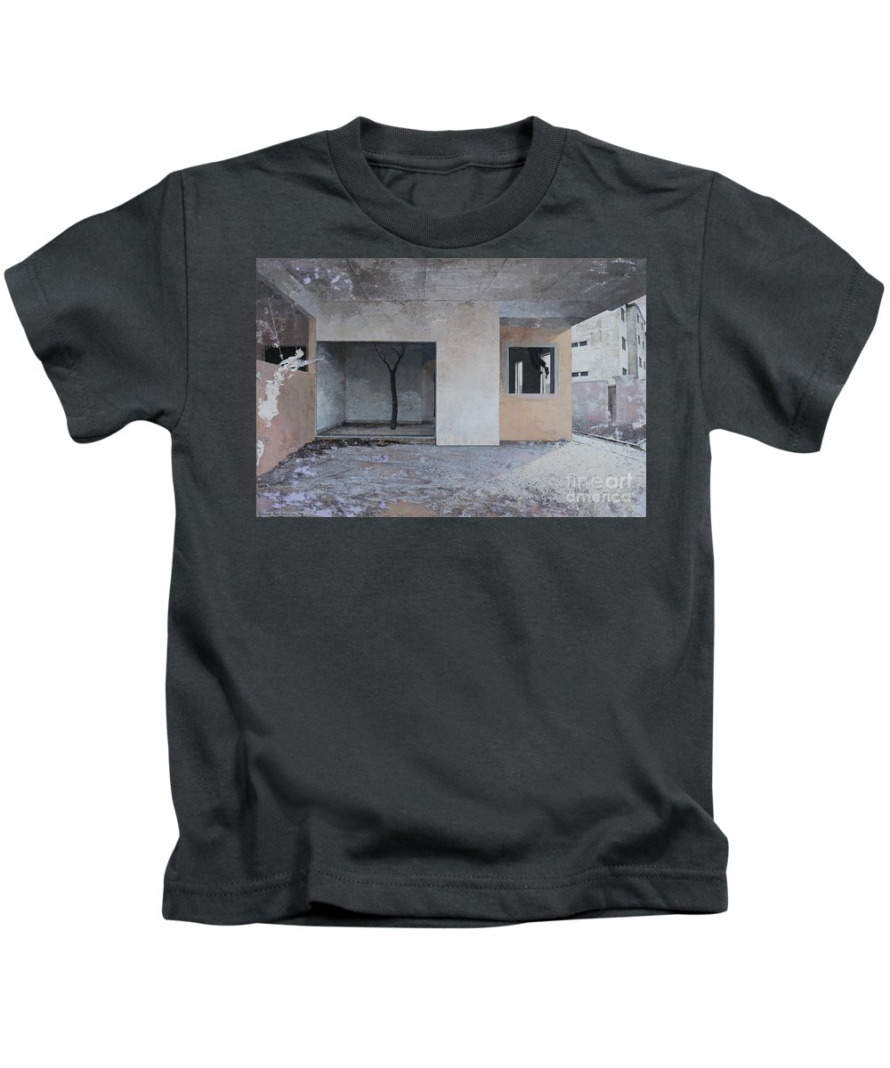 Acrylic Kids T-Shirt featuring the painting If You Are Lost , I ' Ll Search For You. by Tuck Wai Cheong
