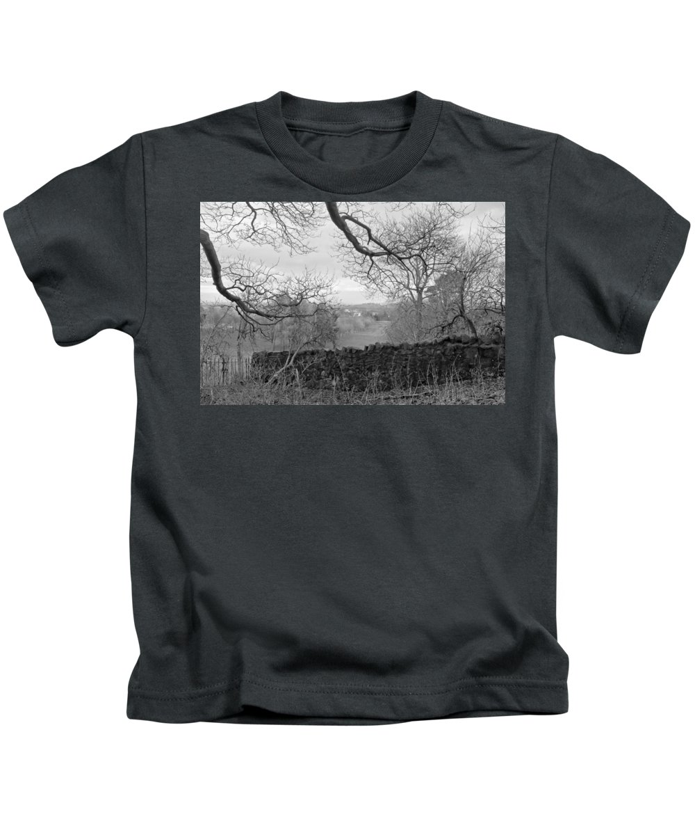 Bare Tree Kids T-Shirt featuring the photograph In December. by Elena Perelman
