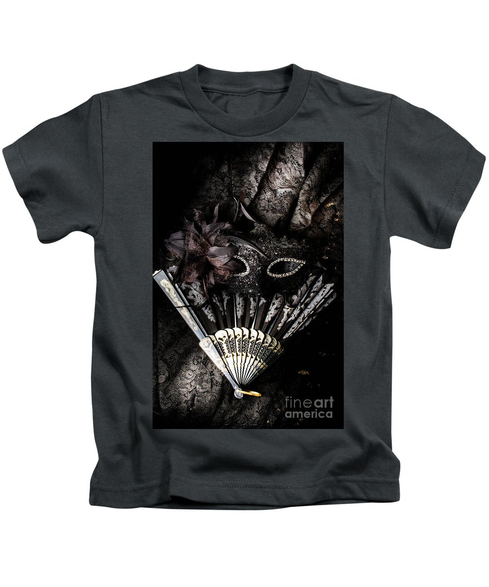Masquerade Kids T-Shirt featuring the photograph In Fashion Of Mystery And Elegance by Jorgo Photography - Wall Art Gallery