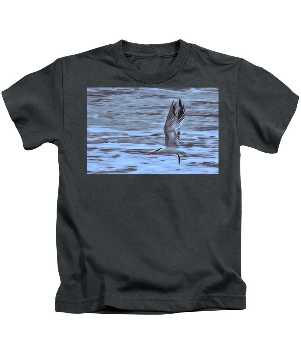 Seagull Kids T-Shirt featuring the photograph In Flight by Patricia Black