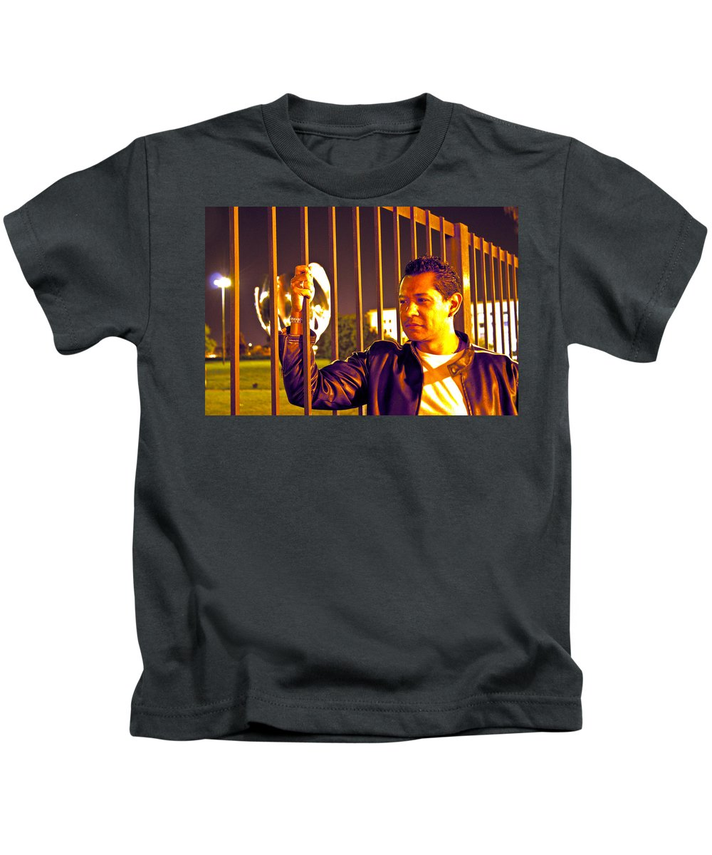 Kids T-Shirt featuring the photograph In Or Out by Francisco Colon
