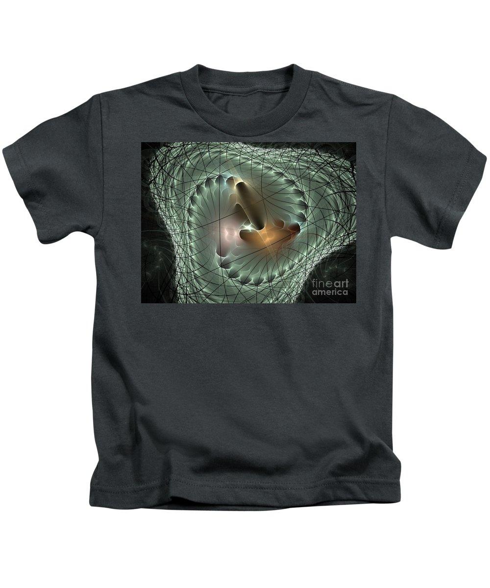 Apophysis Kids T-Shirt featuring the digital art In The Mesh by Deborah Benoit