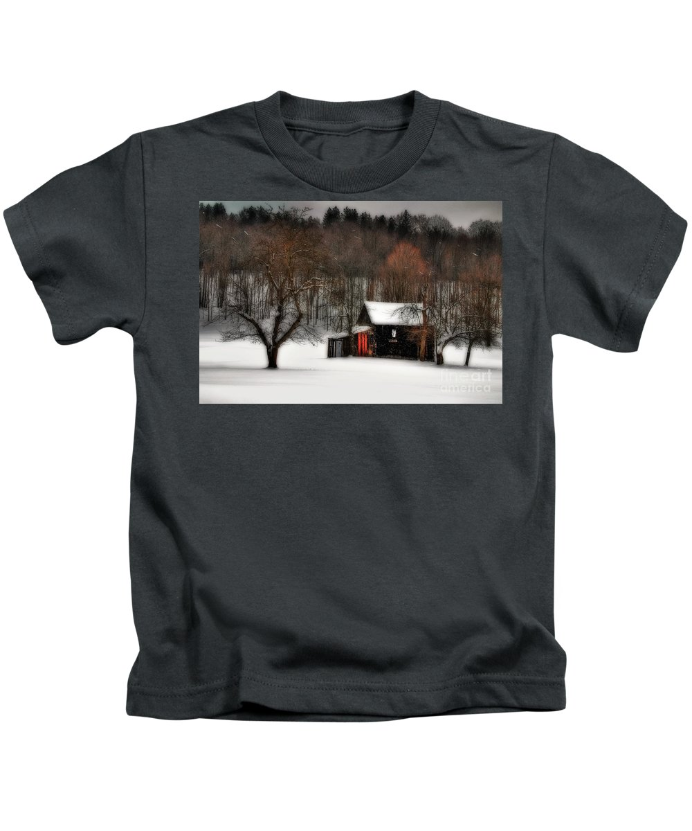 Winter Kids T-Shirt featuring the photograph In Winter by Lois Bryan