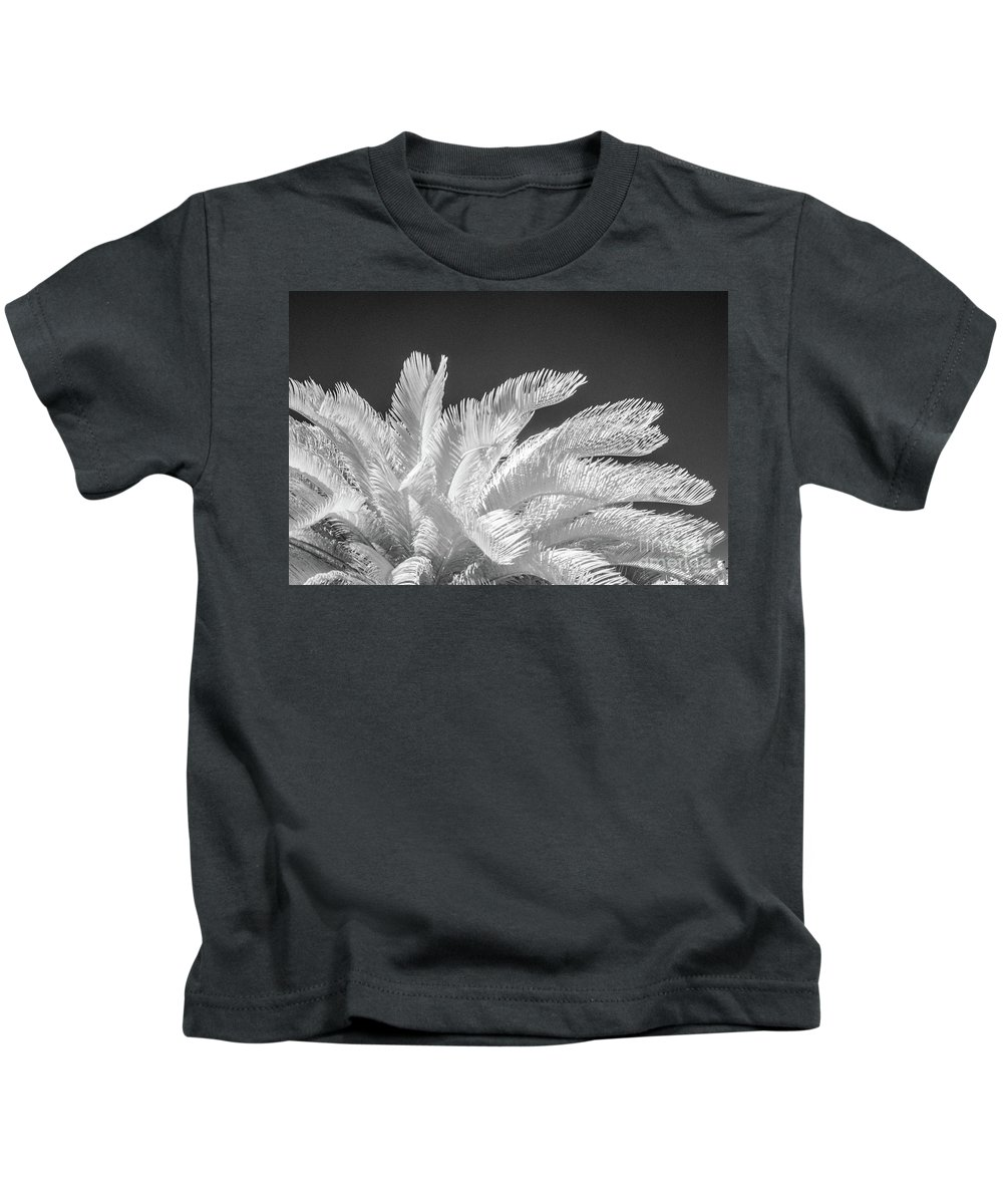 Infrared Kids T-Shirt featuring the photograph Infrared Sago Palm by Kimberly Blom-Roemer