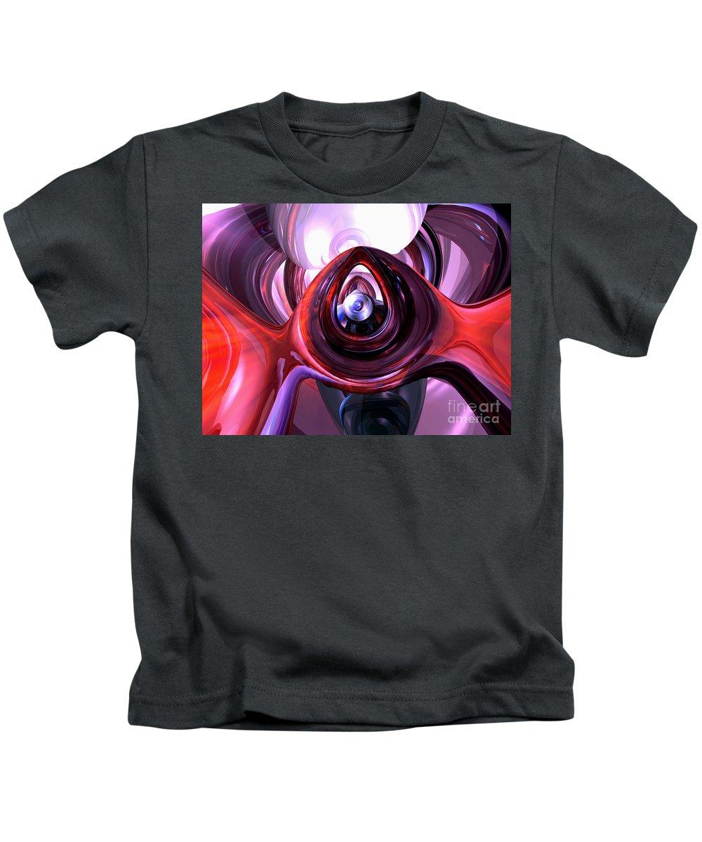 3d Kids T-Shirt featuring the digital art Inner Peace Abstract by Alexander Butler