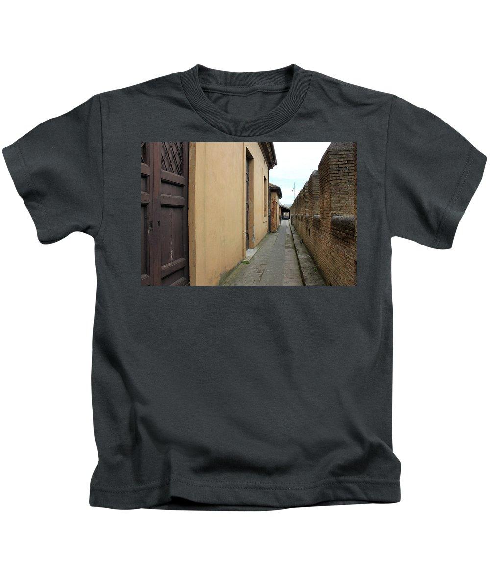 Castle Kids T-Shirt featuring the photograph Inside The Castle by Munir Alawi