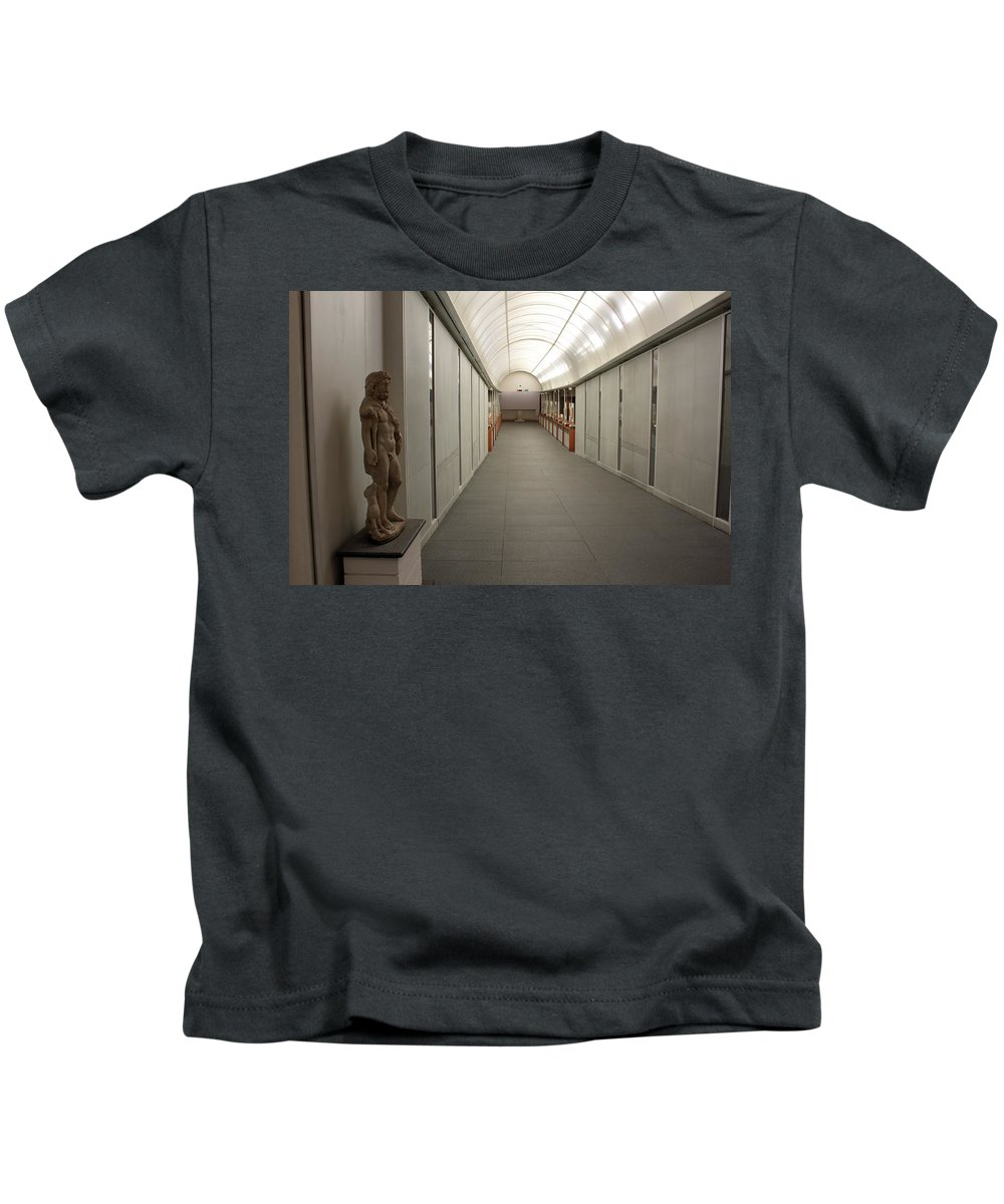 Inside Kids T-Shirt featuring the photograph Inside The Museum by Munir Alawi