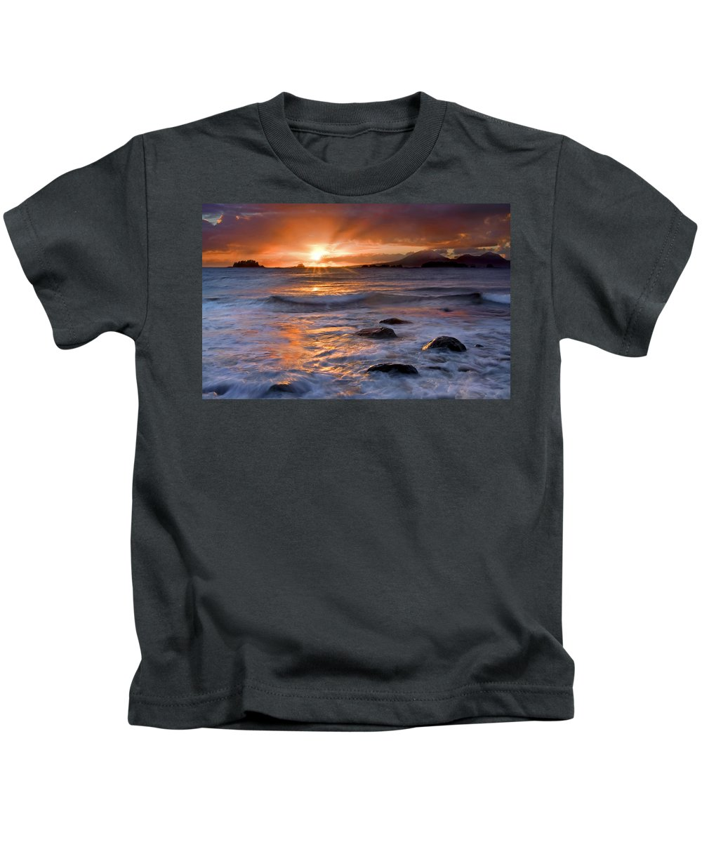 Alaska Kids T-Shirt featuring the photograph Inspired Light by Mike Dawson