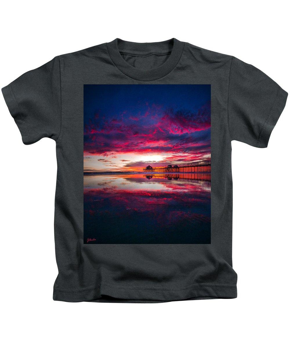 Seascape Kids T-Shirt featuring the photograph Intensity Vertical Pano by Joe Renaissance