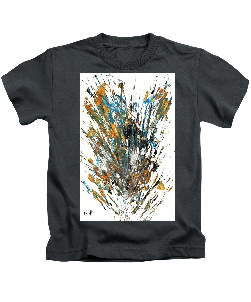 Raw Sienna And Black Chaotic Craziness Intensive Expressive Playful Whimsical Painting Abstract Expressionism Painting Original Symbol Painting Abstract Original Painting Painting Paintings Abstract Painting Paintings Paintings Modern Art Paintings Paintings Expressionism Paintings Paintings Painting Canvas Prints Painting Iphone Cases Paintings Canvas Prints Paintings Iphone Cases Abstract Painting Paintings Canvas Prints Giclee Print Painting Expressive Painting Print Kids T-Shirt featuring the painting Intensive Abstract Painting 519.112011 by Kris Haas