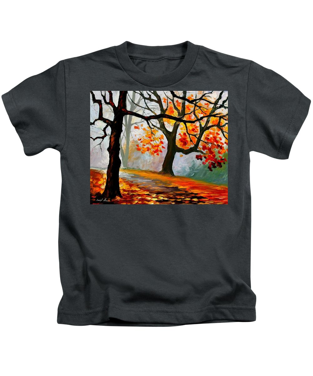 Landscape Kids T-Shirt featuring the painting Interplacement by Leonid Afremov
