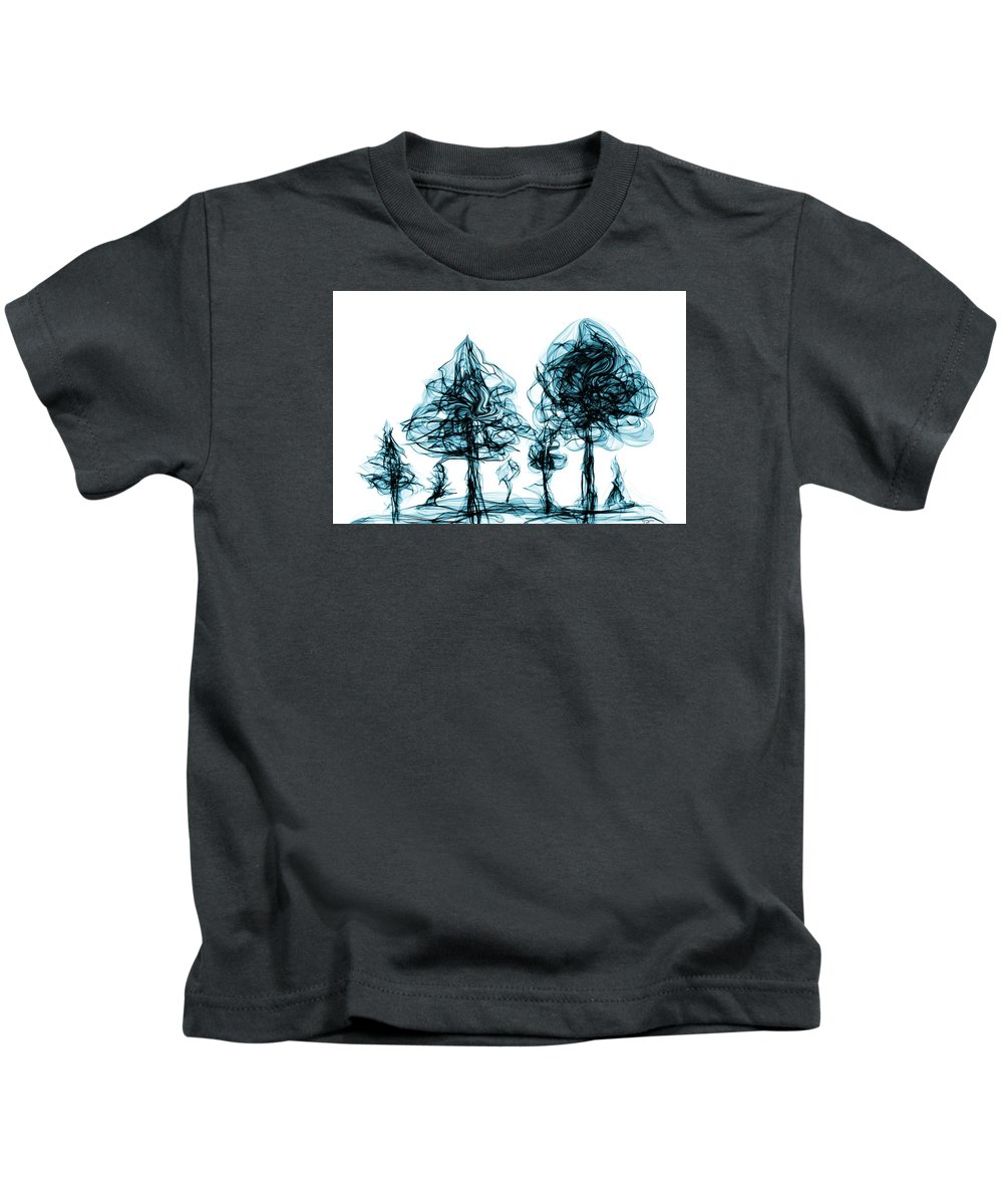 Nature Kids T-Shirt featuring the digital art Into The Mysterious Forest Of Imagination by Abstract Angel Artist Stephen K