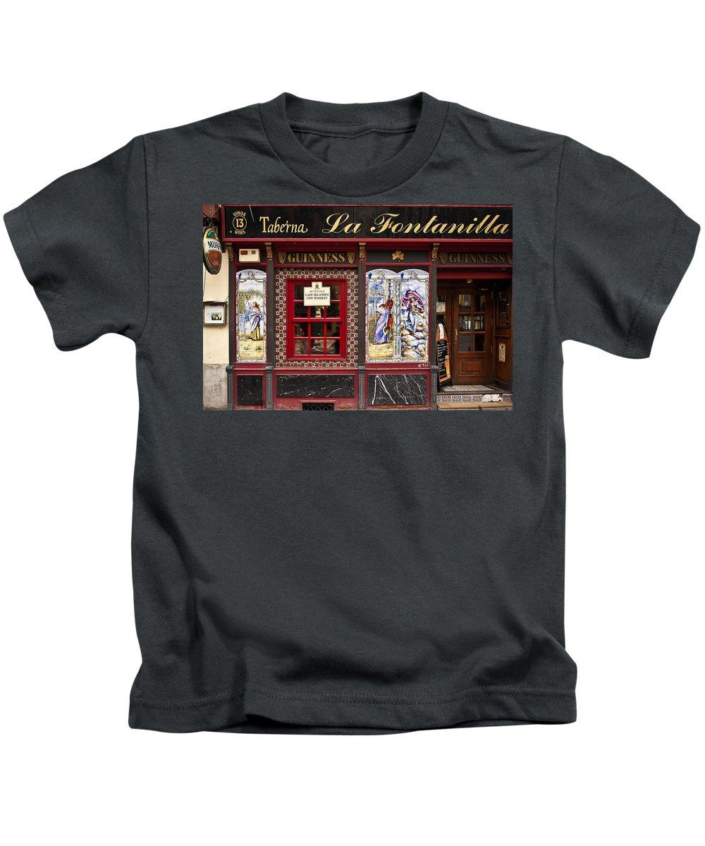 Spain Kids T-Shirt featuring the photograph Irish Pub In Spain by John Greim
