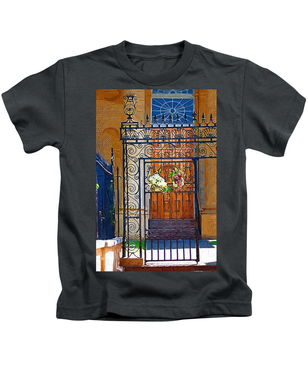Church Kids T-Shirt featuring the photograph Iron Gate by Donna Bentley