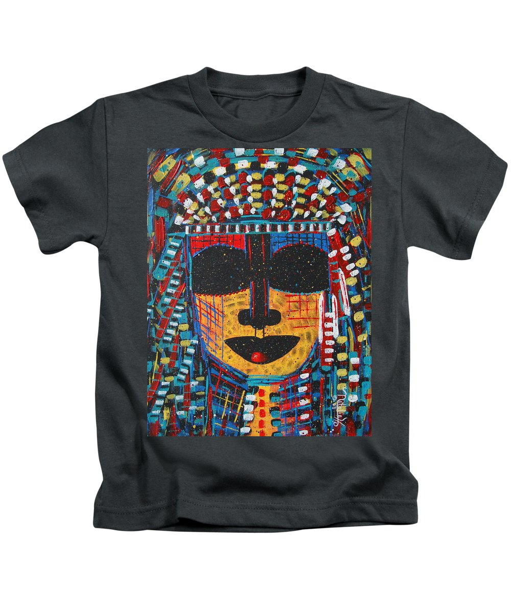 Abstract Kids T-Shirt featuring the painting Isatoria by Natalie Holland
