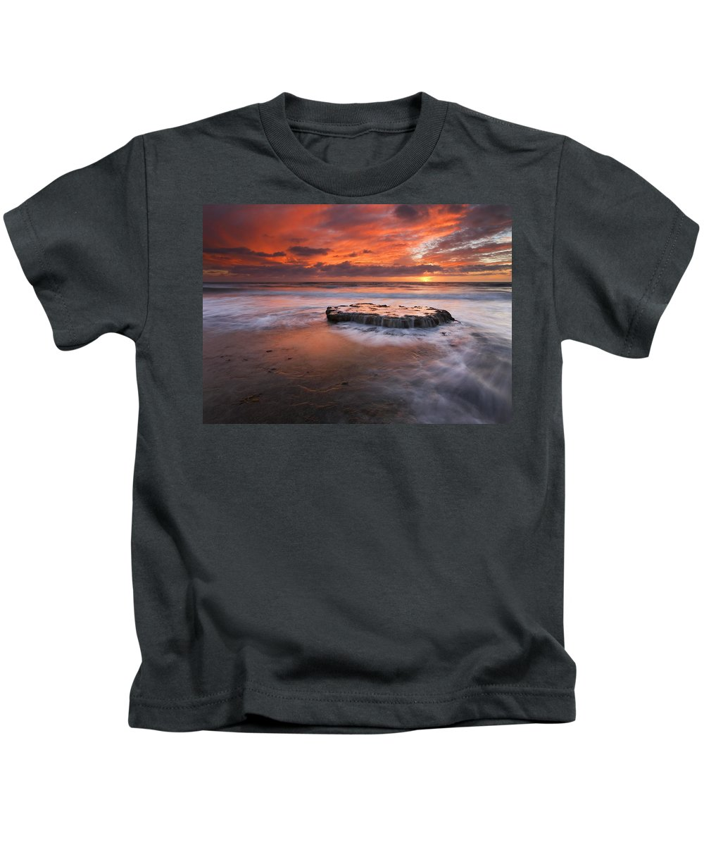 Island Kids T-Shirt featuring the photograph Island In The Storm by Mike Dawson