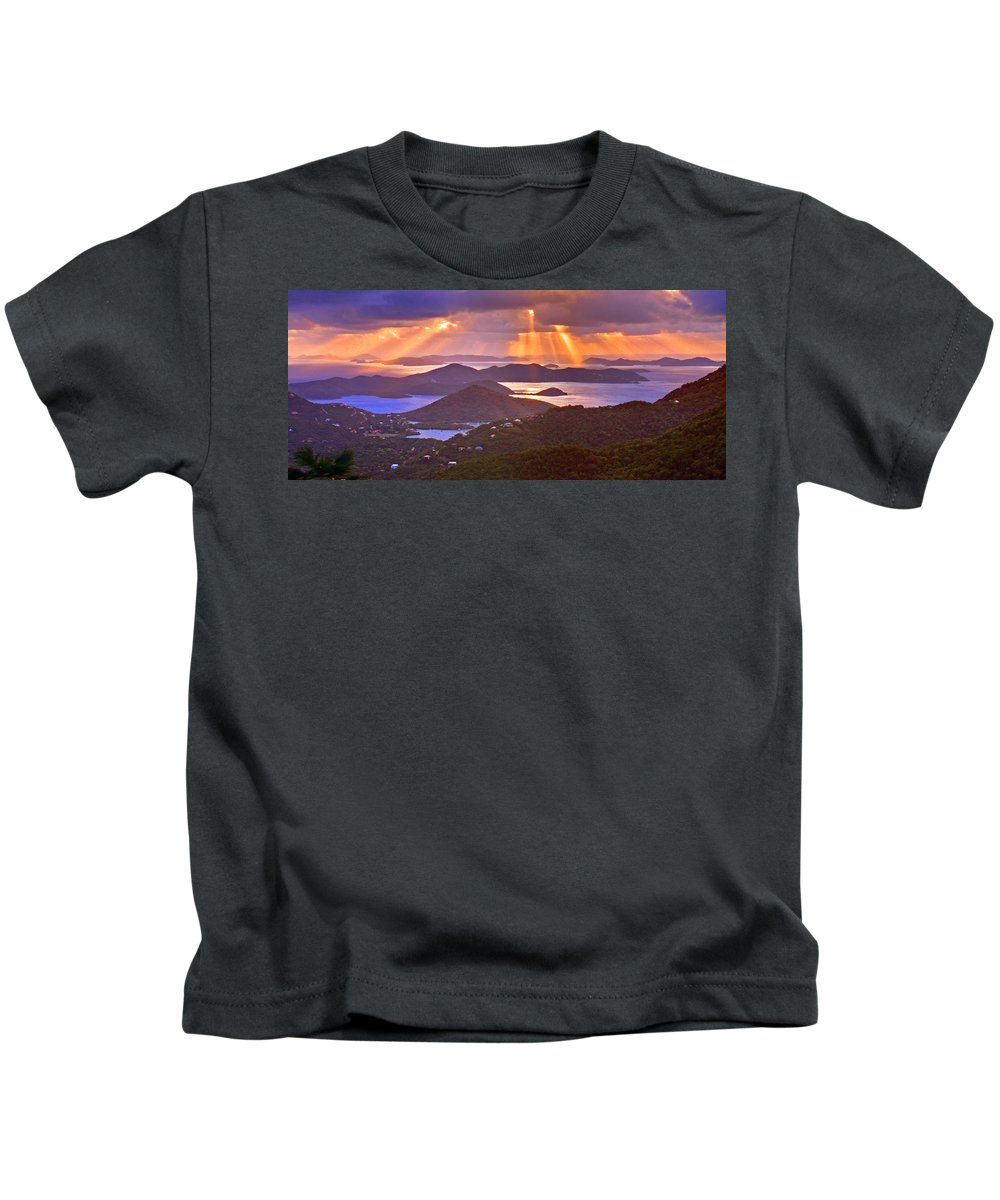 Virgin Islands Kids T-Shirt featuring the photograph Island Rays by Scott Mahon