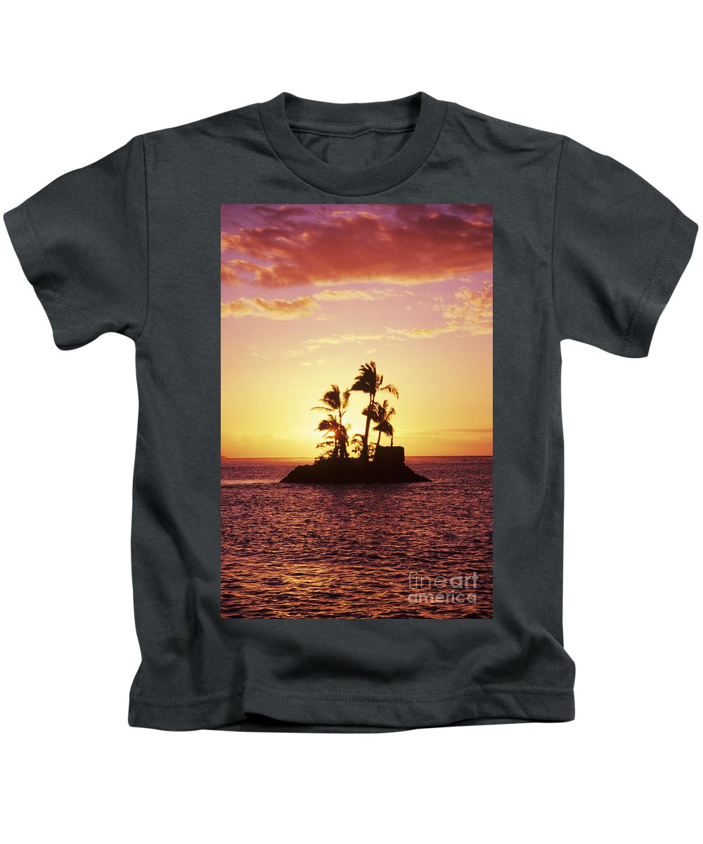 Alone Kids T-Shirt featuring the photograph Island Silhouette by Tomas del Amo - Printscapes