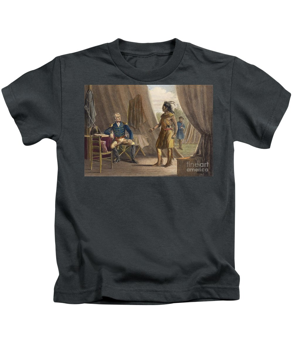 1814 Kids T-Shirt featuring the photograph Jackson & Weatherford by Granger