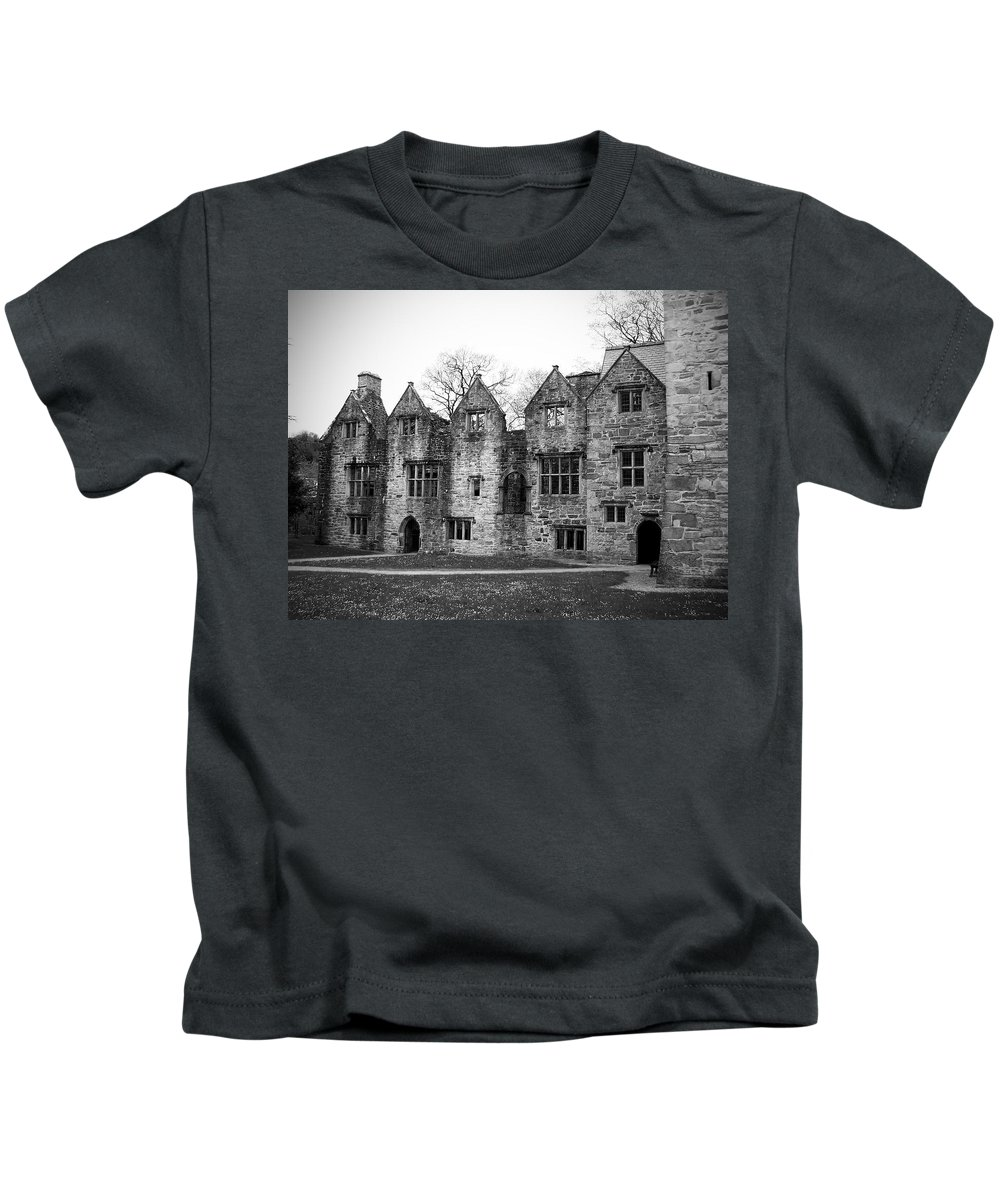 Irish Kids T-Shirt featuring the photograph Jacobean Wing At Donegal Castle Ireland by Teresa Mucha