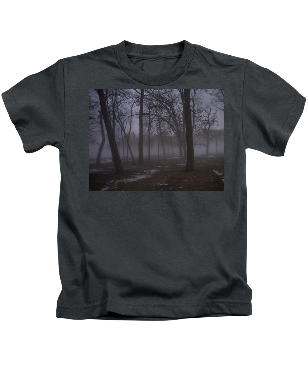 January Kids T-Shirt featuring the photograph January Fog 2 by Anita Burgermeister