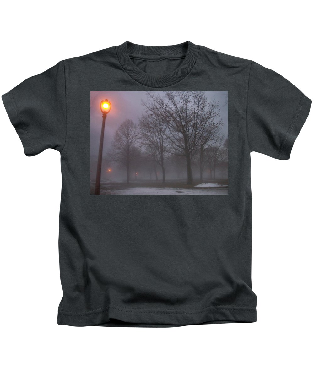January Kids T-Shirt featuring the photograph January Fog 3 by Anita Burgermeister