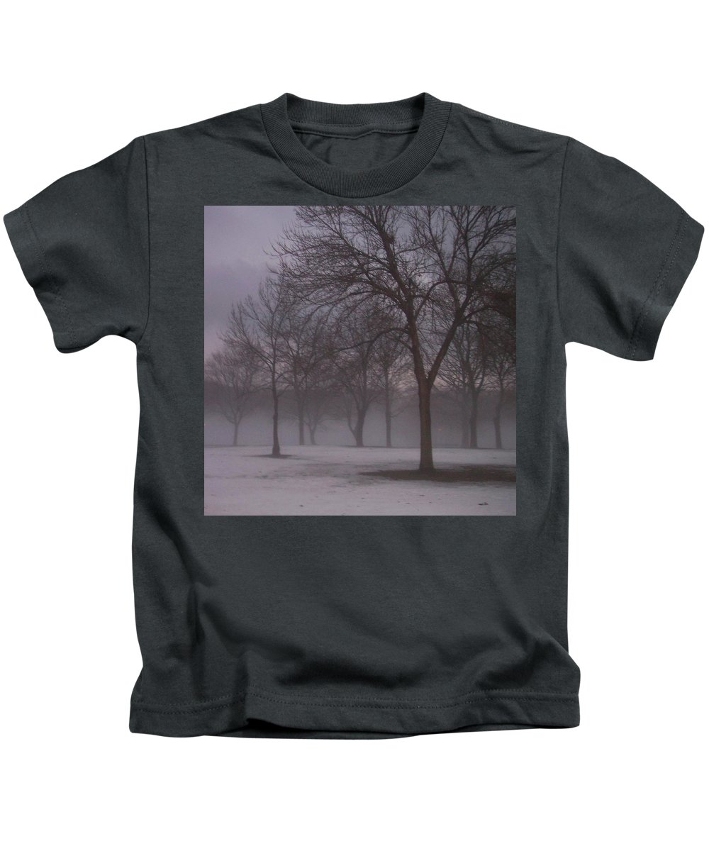 January Kids T-Shirt featuring the photograph January Fog 4 by Anita Burgermeister