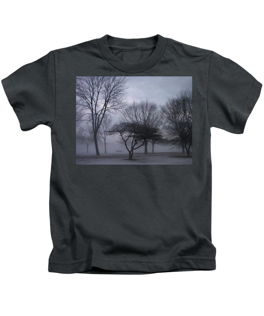 January Kids T-Shirt featuring the photograph January Fog 6 by Anita Burgermeister