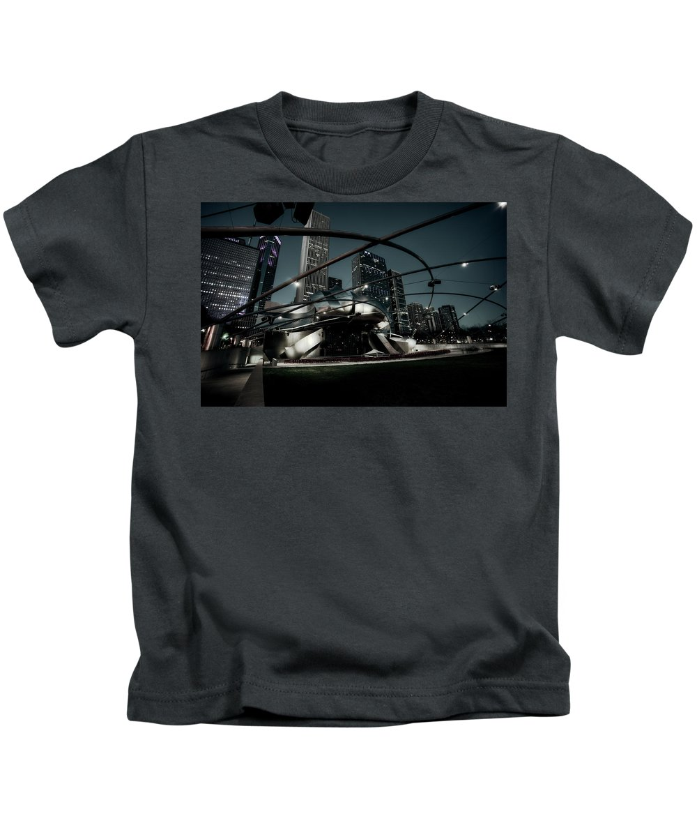 Chicago Kids T-Shirt featuring the photograph Jay Pritzker Pavilion - Chicago by Daniel Hagerman