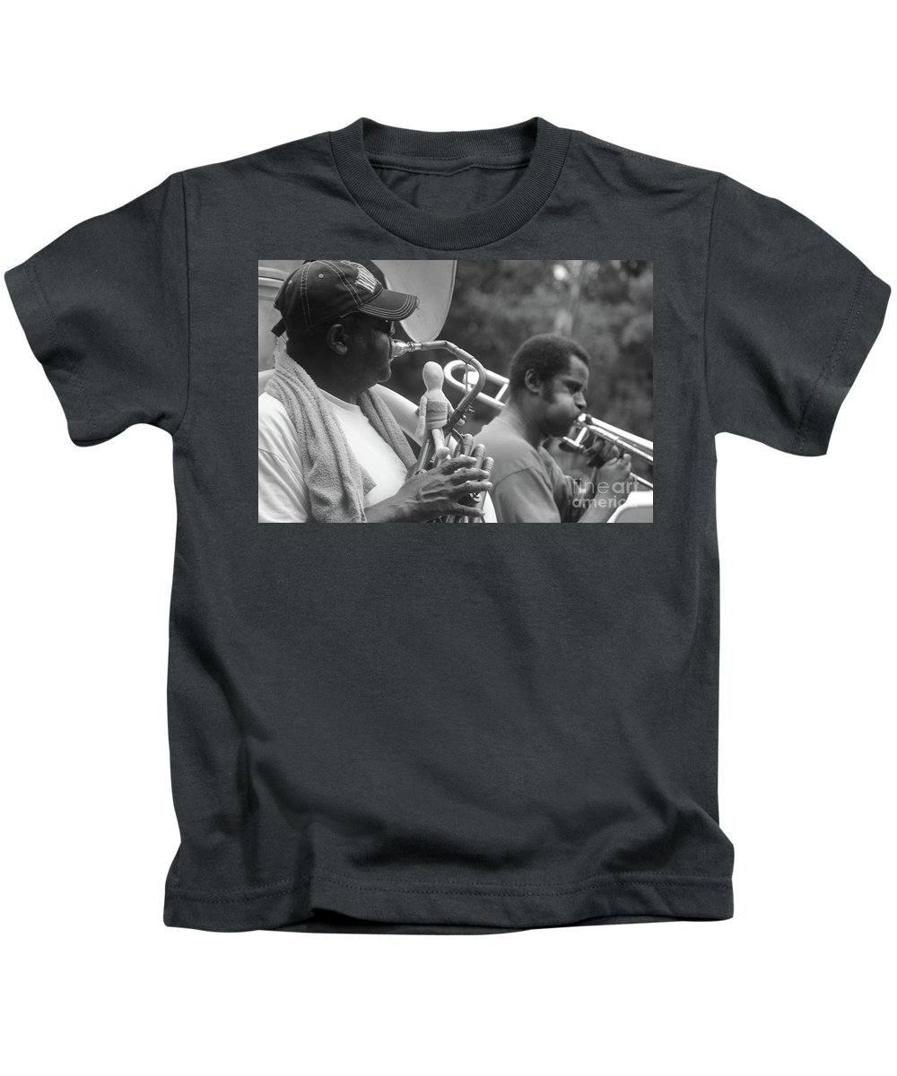 Jazz Band Kids T-Shirt featuring the photograph Jazz Musicians by Michelle Powell