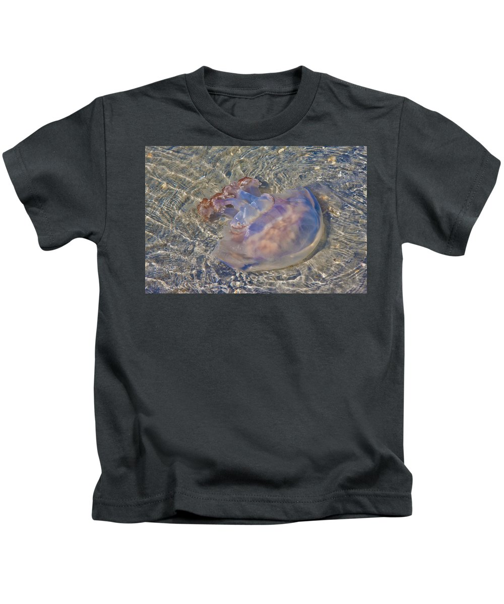 Topsail Kids T-Shirt featuring the photograph Jellyfish by Betsy Knapp