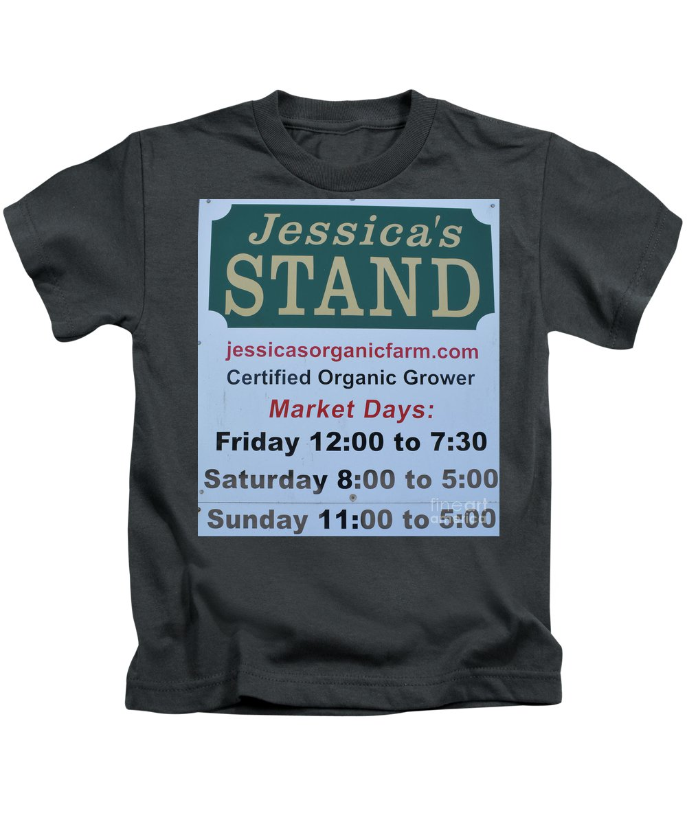 Jessica's Stand Kids T-Shirt featuring the photograph Jessica's Stand by To-Tam Gerwe