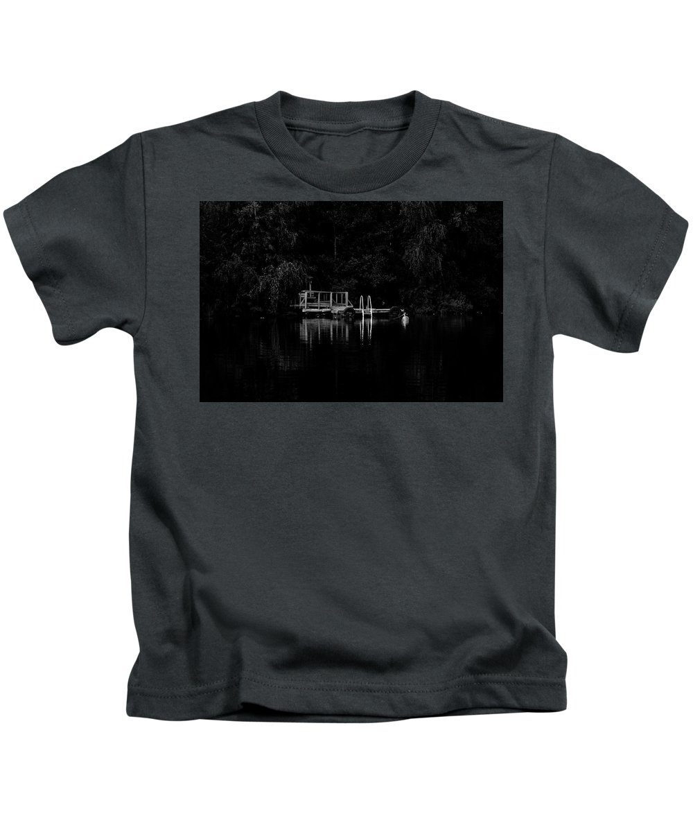 Jetty Kids T-Shirt featuring the photograph Jetty by Jarmo Honkanen