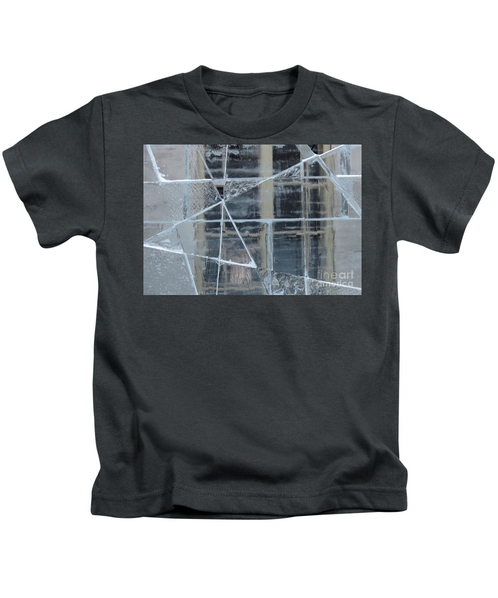 Ice Kids T-Shirt featuring the photograph Jeux De Glace I / Ice Setting I by Dominique Fortier