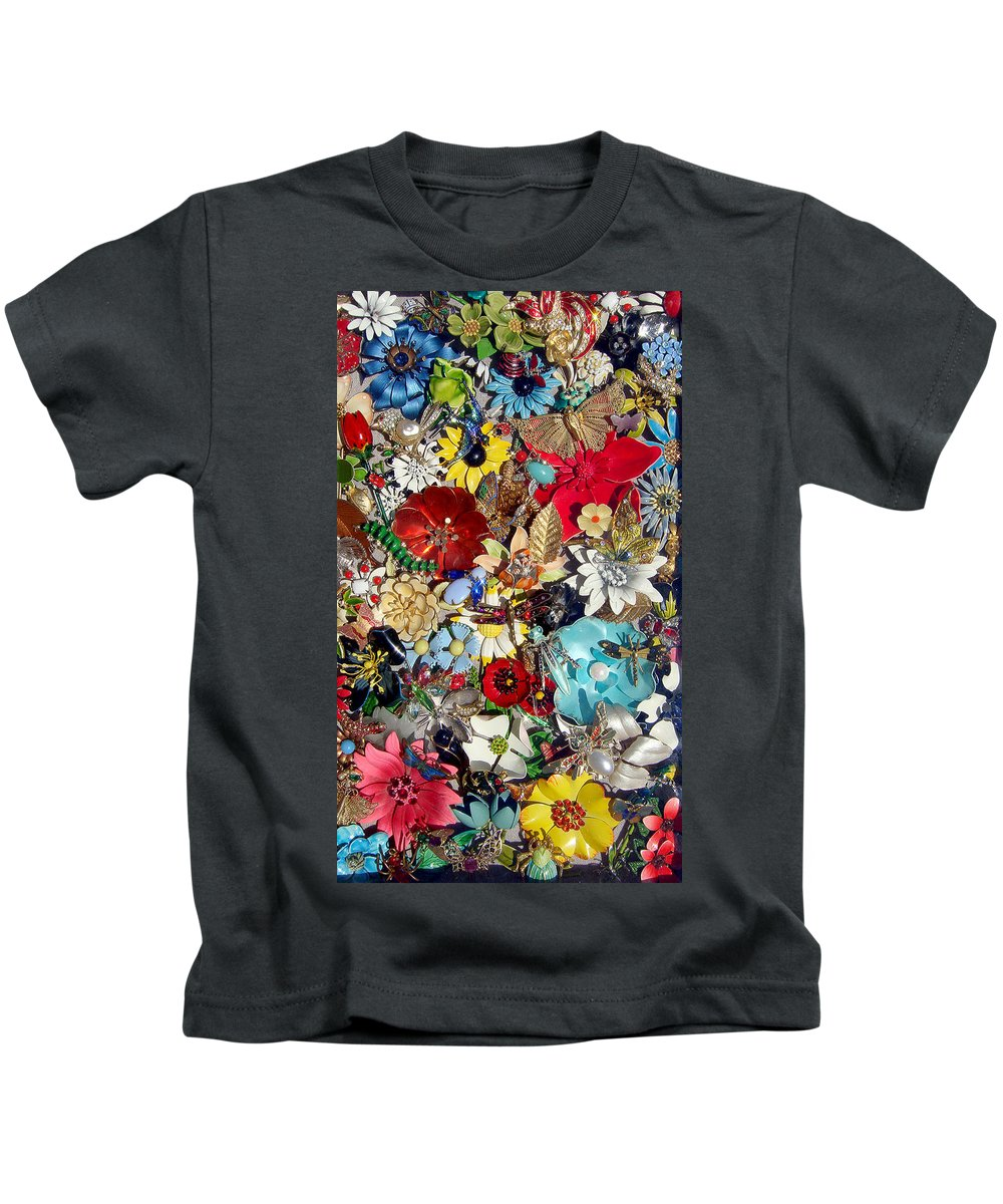 Jewel Kids T-Shirt featuring the photograph Jeweled Garden by Donna Blackhall
