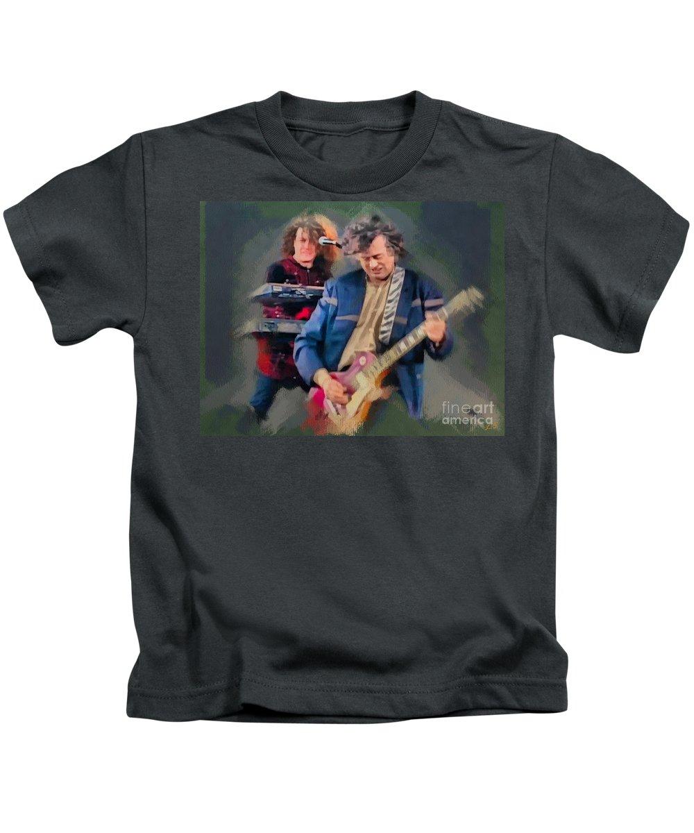 Jimmy Page Kids T-Shirt featuring the photograph Jimmy Page by Sergey Lukashin