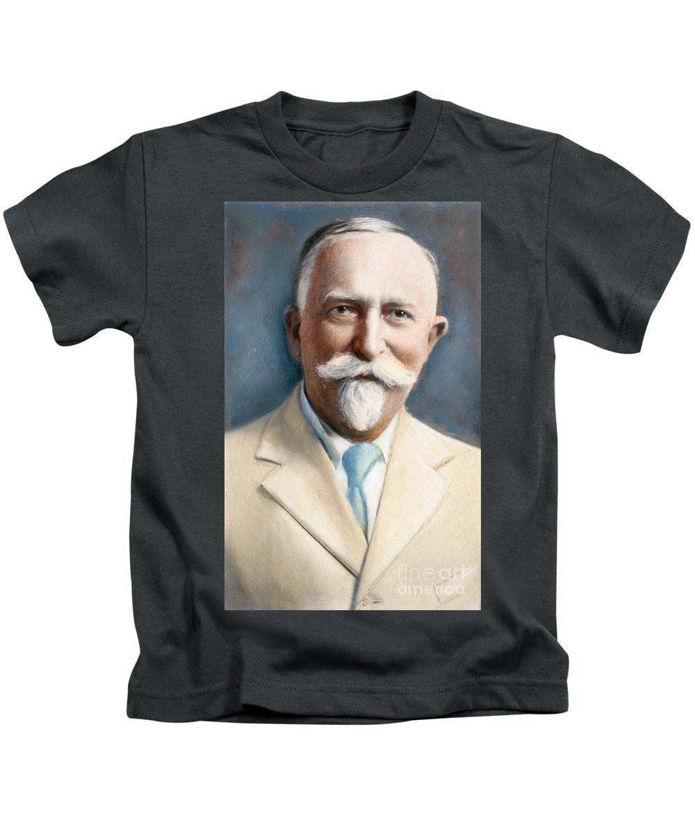 19th Century Kids T-Shirt featuring the drawing John H. Kellogg, 1852-1943 by Granger
